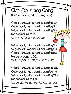 pattern math song first grade wow skip skip skip