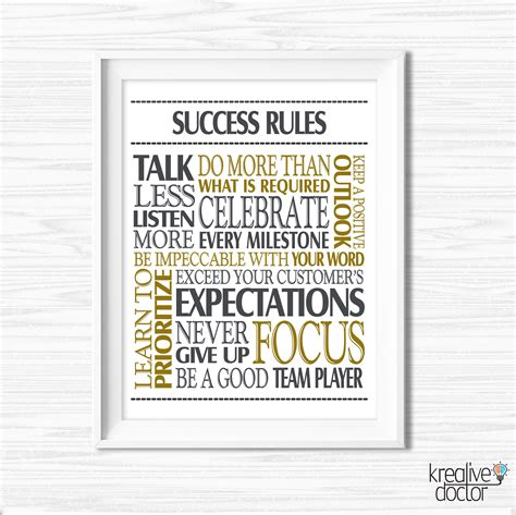 printable success quotes success quotes office wall art printable office teamwork