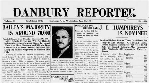 Paper From Newspaper - now the danbury reporter newspaper 183 digitalnc