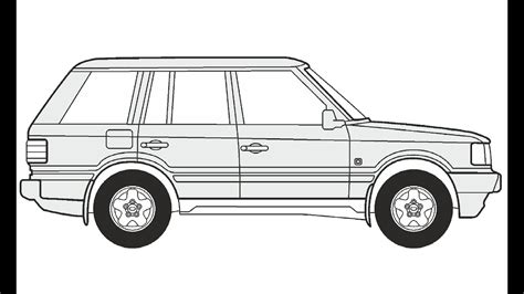 range rover drawing how to draw a range rover как нарисовать range rover