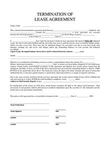 Termination Of Lease Agreement Template by Personal Property Rental Agreement Forms Property