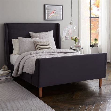 Modern Sleigh Bed Upholstered Sleigh Bed Set