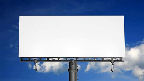 billboard template blank billboard with moving clouds motion background