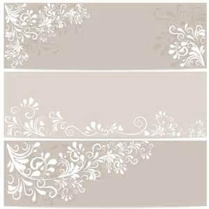 elegant floral ornament banner vector material over