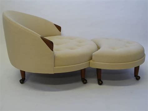 round chair with ottoman superb adrian pearsall round lounge chair with fitted