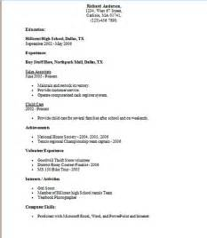 resume format resume exles out of high school