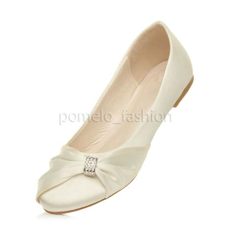 Flat Bridesmaid Shoes by Womens Flat Evening Bridesmaid Bridal Wedding Dolly