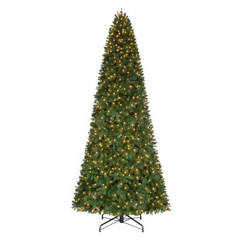 home accents holiday 12 ft pre lit led morgan pine quick