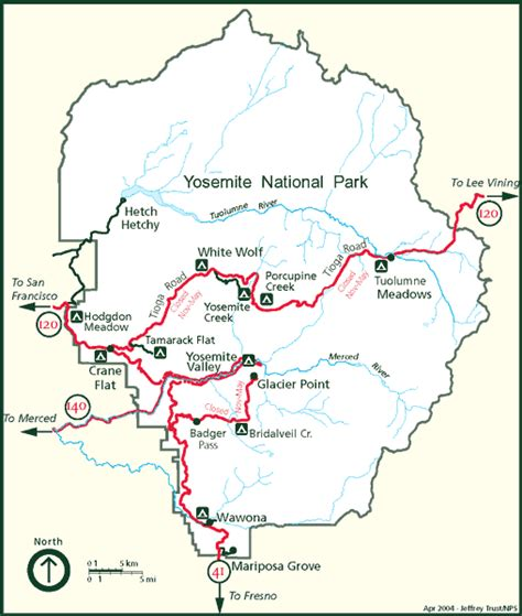 map of yosemite america s national parks 美国国家公园 yosemite national park maps