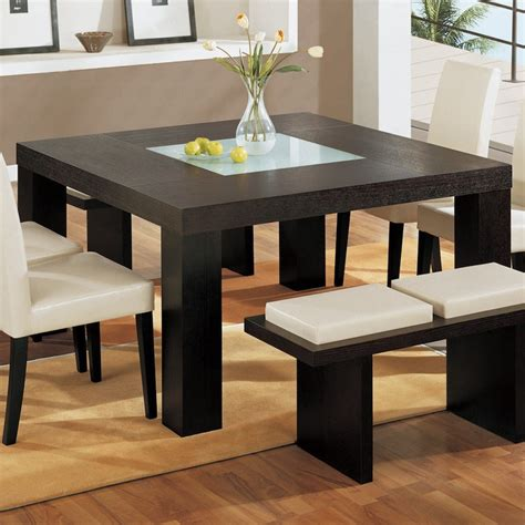 square dining table with bench 10 charming square dining table ideas to glam up your home