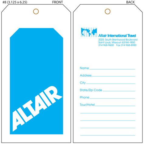 Luggage Tag Template Cyberuse Tags Template Printable