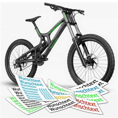Wunschtext Aufkleber by Aufkleber Wunschtext Beschriftung Text Rahmen Fahrrad