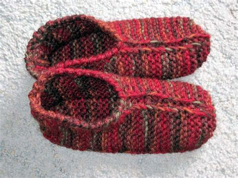 how to knit slippers slippers pattern knitting patterns gallery