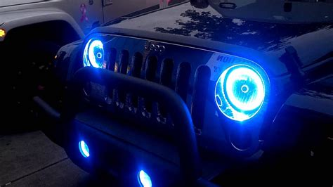 oracle halo lights  jeep jk  ace tire youtube