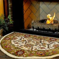 wood stove hearth rugs 46 half ivory and green floral hearth rug northline express
