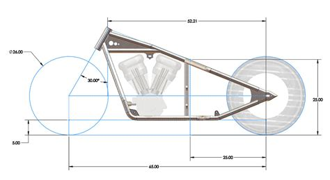 frame design of motorcycle ground clearance