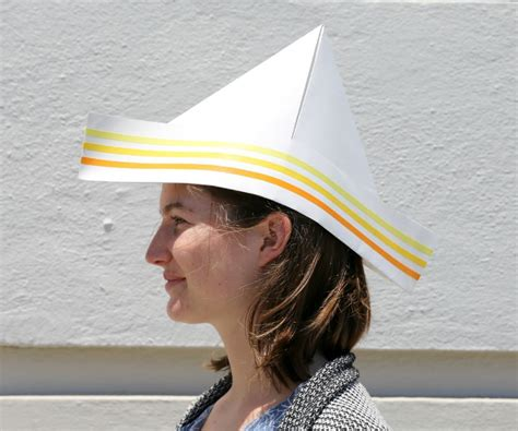 Hat With Paper - how to make a paper hat 5