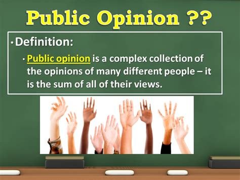 Modified Opinion Definition by Unit 6 Visuals Mass Media Opinion Interest Groups