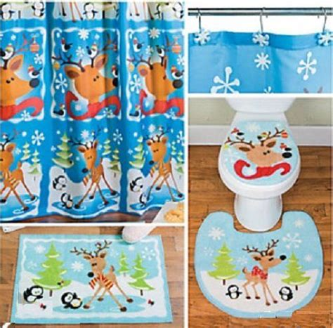 holiday bathroom sets whimsical holiday bathroom set reinde christmas pinterest
