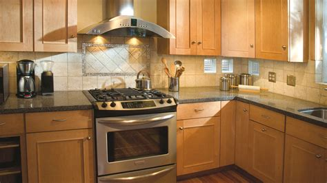 Kitchen Light Cabinets Light Brown Granite Countertops Patch Tilek Backsplash Pit Maple Kitchen Cabinets Craft