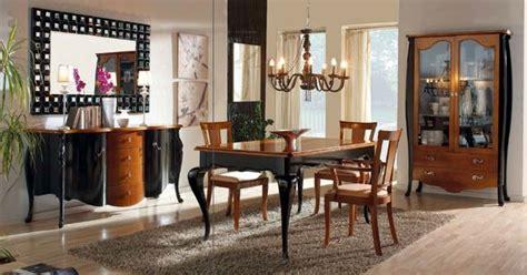 muebles de salon comedor estilo clasico lacado negro