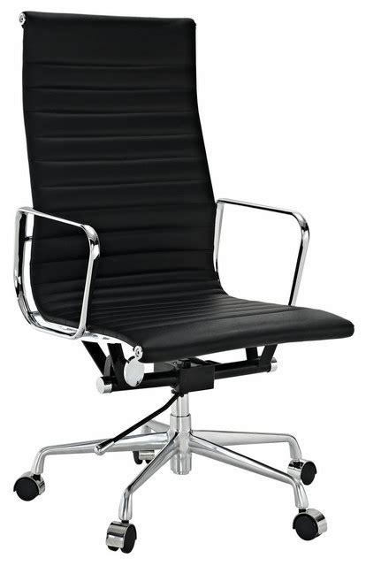 modern high back black ribbed modern ribbed high back office chair leather black
