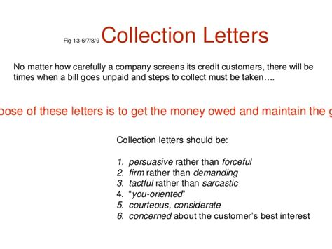 Letter Of Credit And Collection Credit And Collection Letters