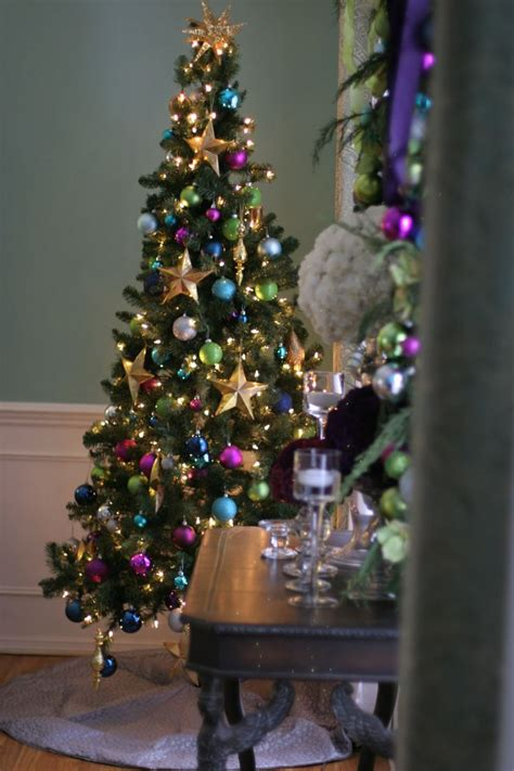 jewel toned christmas tree thespecialeventflorist