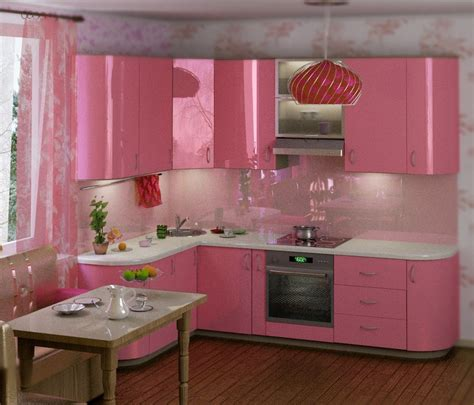 decoration and ideas pink kitchen decoration