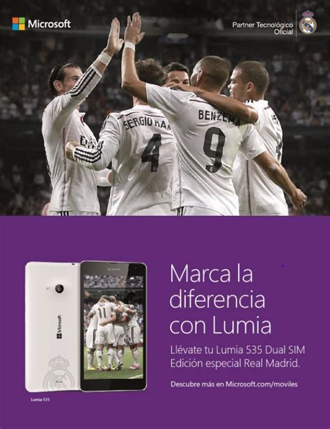 Microsoft Lumia Real Madrid microsoft lumia 535 dual sim edici 243 n real madrid