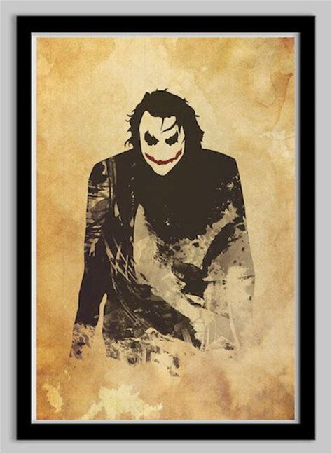 minimalist joker tattoo the dark knight joker minimalist movie poster art size