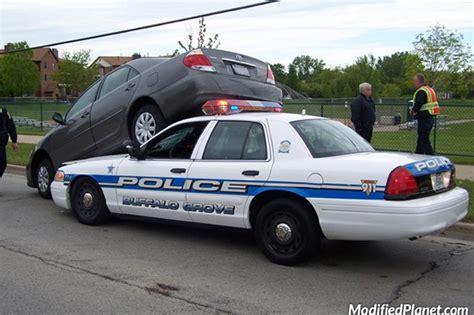 toyota camry  hood  buffalo grove police car