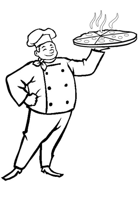 baker coloring pages preschool free online pizza baker colouring page