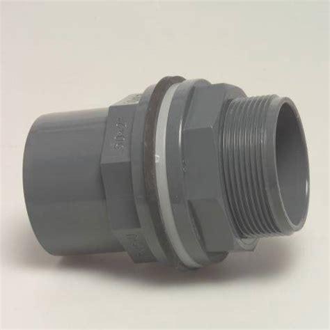 Plumbing Bulkhead high quality pvc u bulkhead tank connector solvent weld 20