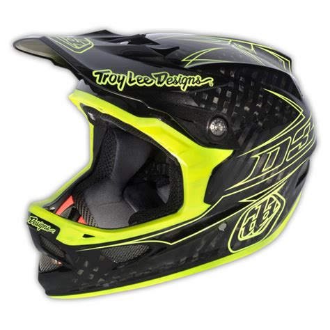troy lee design dh helmet 2013 troy lee designs d3 pinstripe mtb dh bmx bike carbon