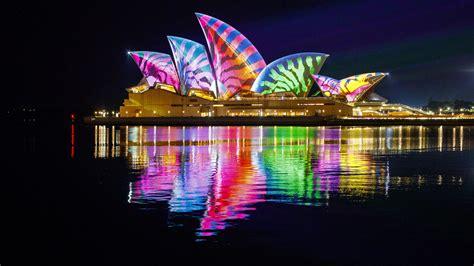 wallpaper opera house sydney australia night