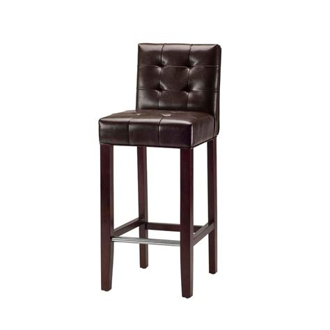 cushioned bar stool home decorators collection oval back 30 in matte bronze