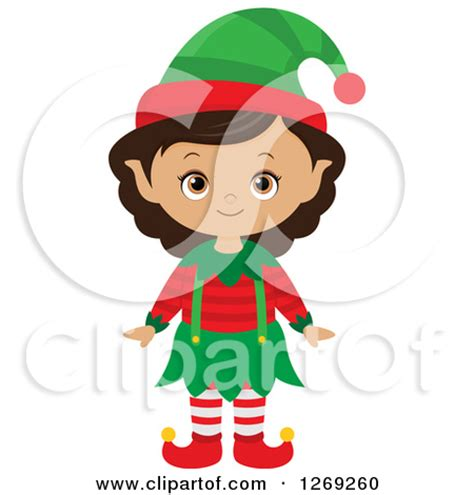female christmas characters royalty free rf black clipart illustrations vector graphics 1