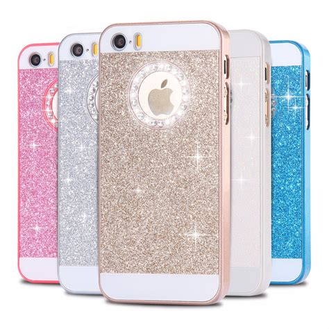 Casing Silikon Gliter Isi 5 floveme for iphone 5 5s se cases glitter slim bling for iphone 5 5s se luxury