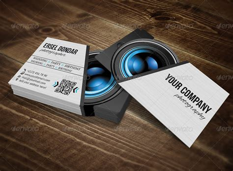 portrait business card template 20 photography business card templates