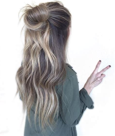 half bun half down hairstyles tumblr 38 perfectly imperfect messy hairstyles for all lengths