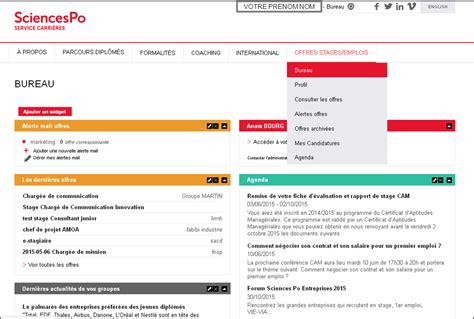 Conseils Lettre De Motivation Sciences Po sciences po service carri 232 res