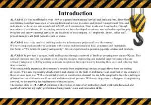 security company profile template construction company profile template