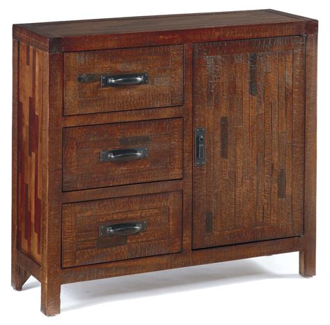 rustic accent cabinet with pine and mixed butcher block
