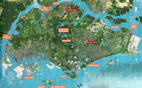 singapore map satellite view large singapore city maps for free and print