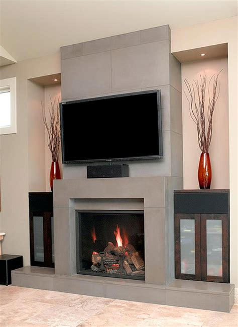 Tv Gas Fireplace Ideas by Fireplace Designs With Tv Above Home Design