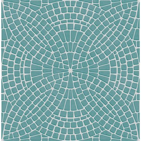 Mosaic Tile Effect ? Teal   Wallsorts