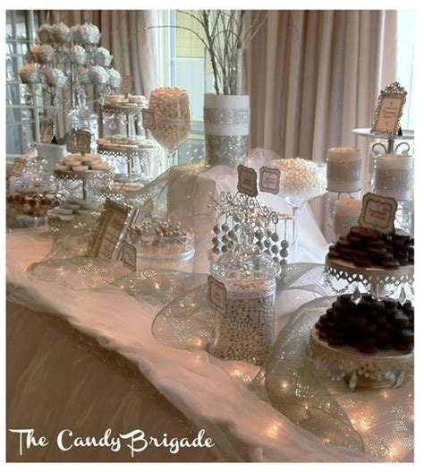 silver white candy buffet stephanie mikes wedding