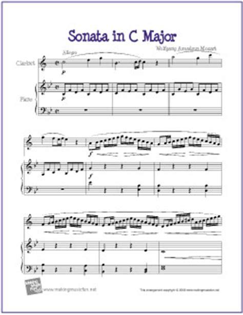 mozart biography easy sonata in c major mozart free printable sheet music