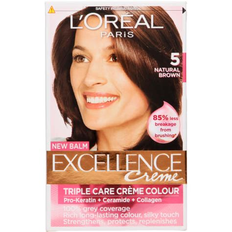loreal excellence creme hair colour l oreal excellence creme hair colour 5 brown 1